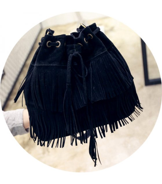 CL369 - Tassel bucket shoulder bag